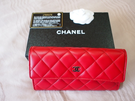 Chanel Red Wallet Gousset 1