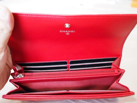 Chanel Red Wallet Gousset 2