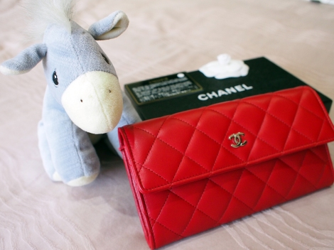 Chanel Red Wallet Gousset 3