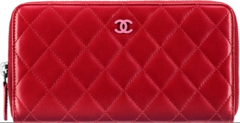 Chanel red wallet A50097 Y25018 7502