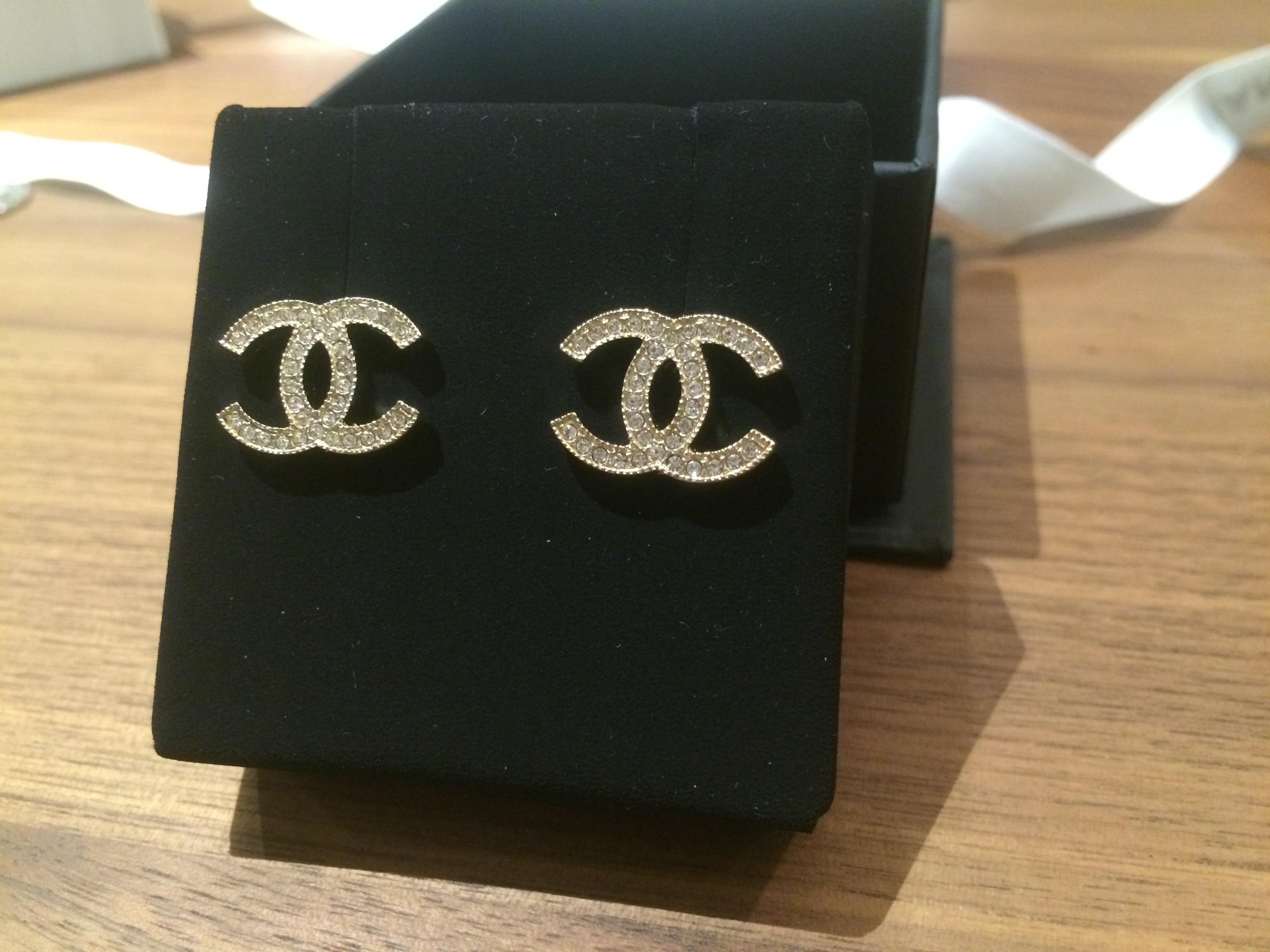 Sold For Double C Classic Chanel Earrings Gold Branded