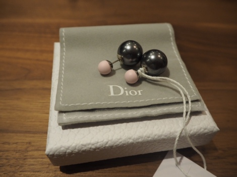 Dior Pink & Grey Mise En Dior Tribale Earrings